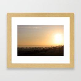 Yorkshire Sunset Framed Art Print