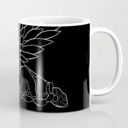 flying turtle black and white Coffee Mug