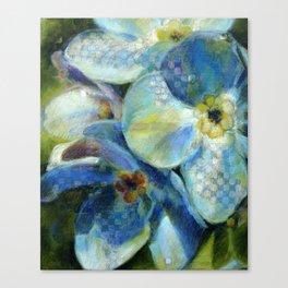 Bleu numérique Canvas Print
