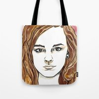 hermione Tote Bags featuring Hermione Granger by Boni Dutch