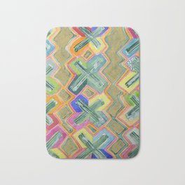 Colorful X-Pattern Bath Mat