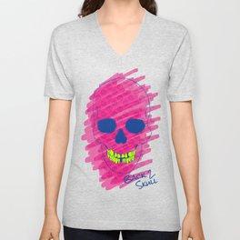 Back 2 Skull Unisex V-Neck