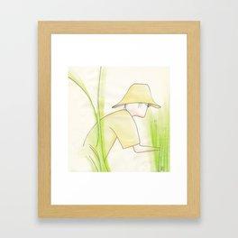 Le cueilleur Framed Art Print