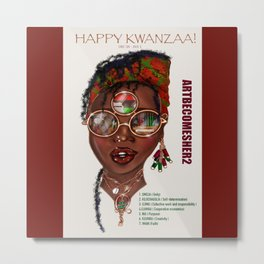 Happy Kwanzaa Gifts and Cards Metal Print