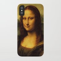 mona lisa iPhone & iPod Cases featuring Mona Lisa by Color and Patterns