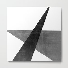 Ambitious No. 2   Abstract in Blacks + Grays Metal Print