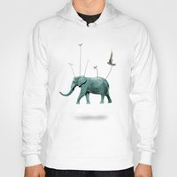 elephant Hoodies featuring elephant by mark ashkenazi