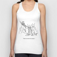 "lawyer Tank Tops featuring ""One Hell Of A Lawyer"" by Bill Abbott Business Cartoons"