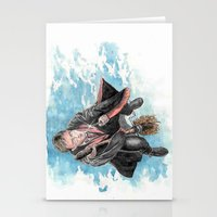 harry potter Stationery Cards featuring Harry Potter  by Dave Seedhouse.com