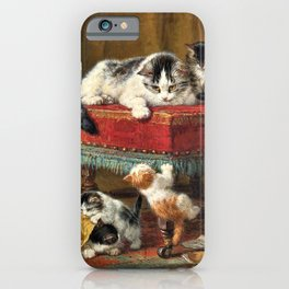 Henriette Ronner-Knip - Mother's Pride - Digital Remastered Edition iPhone Case
