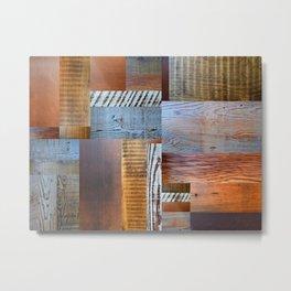 Reclaimed Wood Collage 4.0 Metal Print