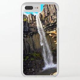 Svartifoss Waterfall, Skaftafell, Vatnajökull National Park, Iceland (1) Clear iPhone Case