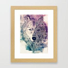 Wolf artwork Framed Art Print