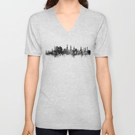 Heidelberg Germany Skyline Unisex V-Neck