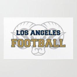 American Football In Blue Rug