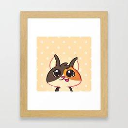 Curious Kitty Cat Framed Art Print