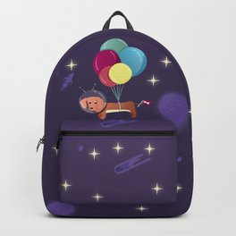 Galaxy Dog with balloons Backpack