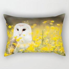 Australian Barn Owl (Tyto Alba) Rectangular Pillow