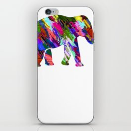 Beautiful Elephant Love Gift Painted iPhone Skin