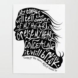 Speak Your Anger Poster