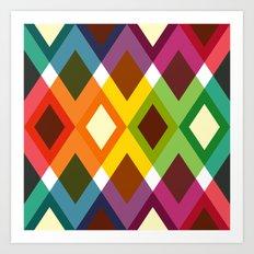 Squares & Colours Art Print