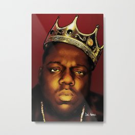 The Notorious B.I.G., Biggie Smalls Metal Print