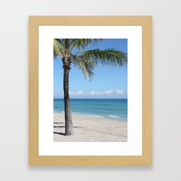"""I'll Meet You Under the Palm Tree"" Framed Art Print"