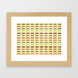 Build a Burger Framed Art Print