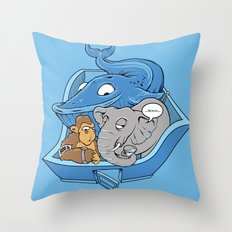 The Blue Whale in the Room Throw Pillow