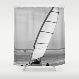 Sand yachting Shower Curtain