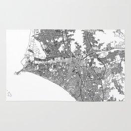 Lima White Map Rug