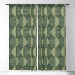 Abstract Circles pattern green  Blackout Curtain