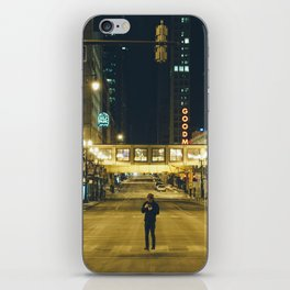 Chicago at 4 in the morning iPhone Skin