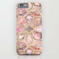 Geometric Gilded Stone Tiles in Blush Pink, Peach and Coral iPhone 6s Slim Case