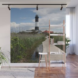 Fire Island Light With Reflection - Long Island Wall Mural
