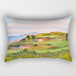 Pacific Dunes Golf Course Oregon WA Hole 11 Rectangular Pillow