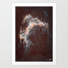 DARK LION #2 Art Print