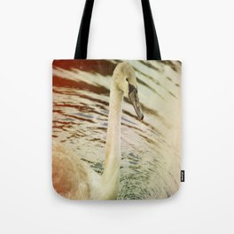 OLD TIMES SWAN. Tote Bag