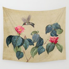 Hummingbird and Japanese Camillea Wall Tapestry