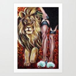 12 sign series - Leo Art Print