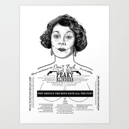 Aunt Polly 'Why Should The Boys...' Ink'd Series Art Print