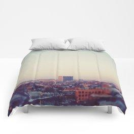 Morning Over Detroit Comforters