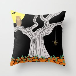 On A Very  Scary #Halloween Night Throw Pillow