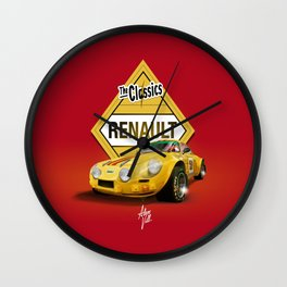 ROJO · Renault Alpine Wall Clock