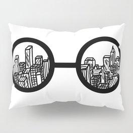 nyc glasses Pillow Sham