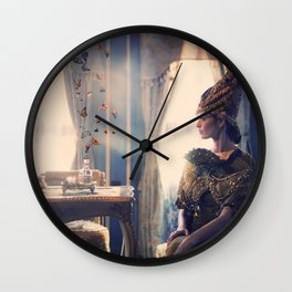 Girl with butterfly Wall Clock