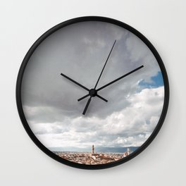 View of Florence from Piazzale  Wall Clock