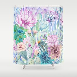 pastel votanical garden Shower Curtain