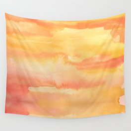 Apricot Sunset Wall Tapestry