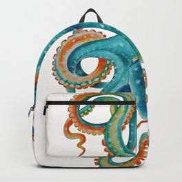 Octopus Teal Watercolor Ink Backpack